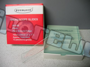 Microscope Slides : 75mm x 25mm (72 count)