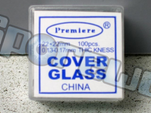 Microscope Slide Cover Glass : 22mm x 22mm (100 count)